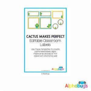 Classroom Decor – Cactus Makes Perfect Labels