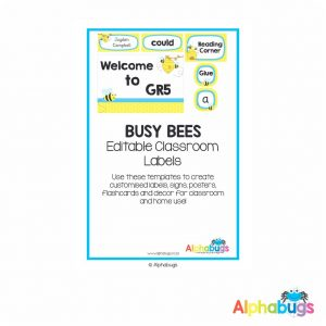 Classroom Decor – Busy Bees Labels