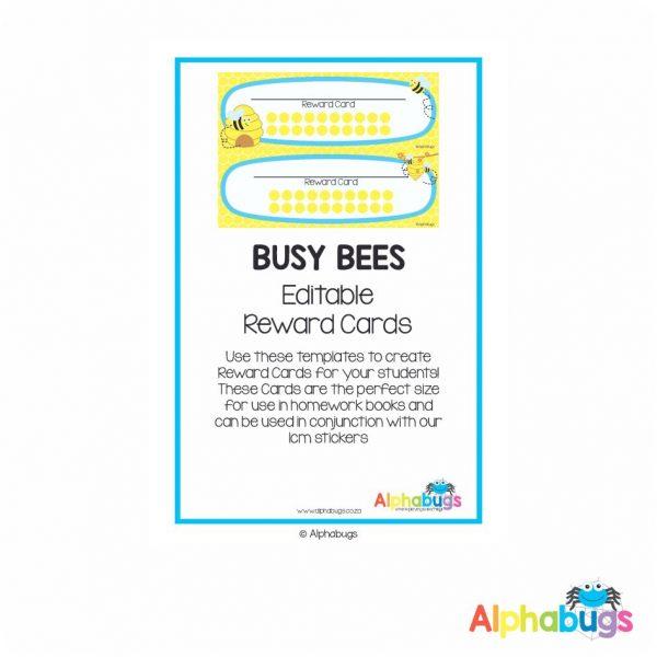 Classroom Decor – Busy Bees Reward Cards