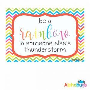 Classroom Theme - Rainbow Chevrons