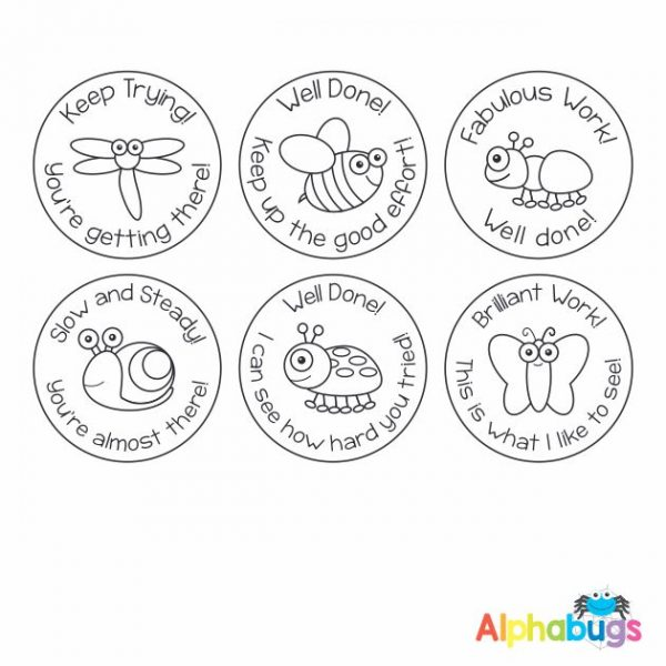 Stamp Set – Alphabugs 3cm