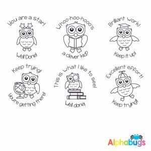 Stamp Set – Wise Owls 3cm