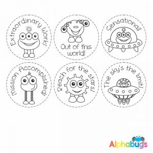 Stamp Set – Alien Invasion 3cm