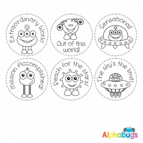 Stamp Set – Alien Invasion 3cm