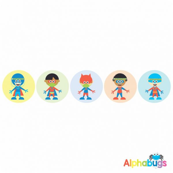 Themed Stickers – Covid Superboys
