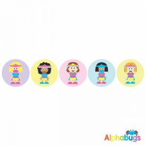 Themed Stickers – Covid Supergirls