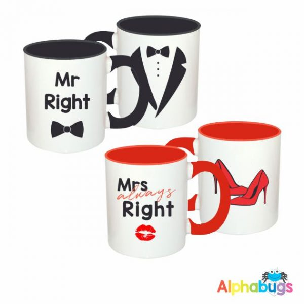 Mugs – Couples – Mr & Mrs Always Right