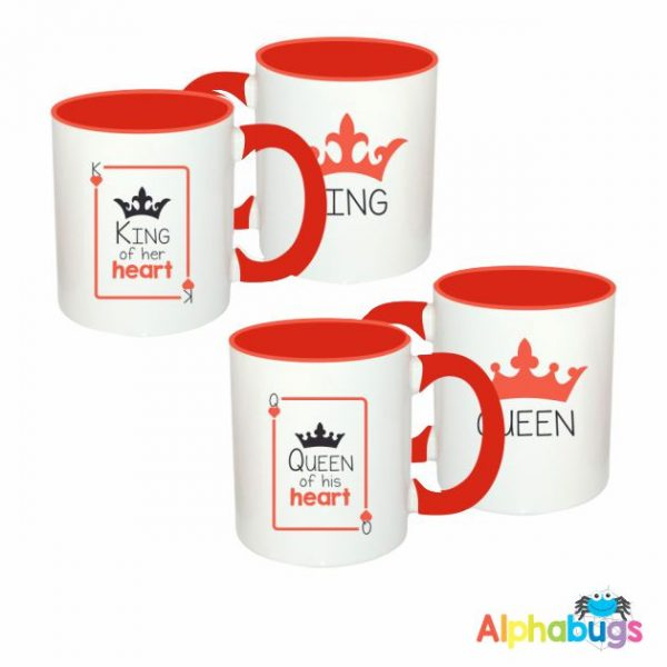 Mugs – Couples – King & Queen Of Hearts