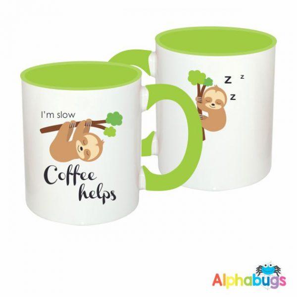 Mugs – A Slumber Of Sloths – I'm Slow, Coffee Helps