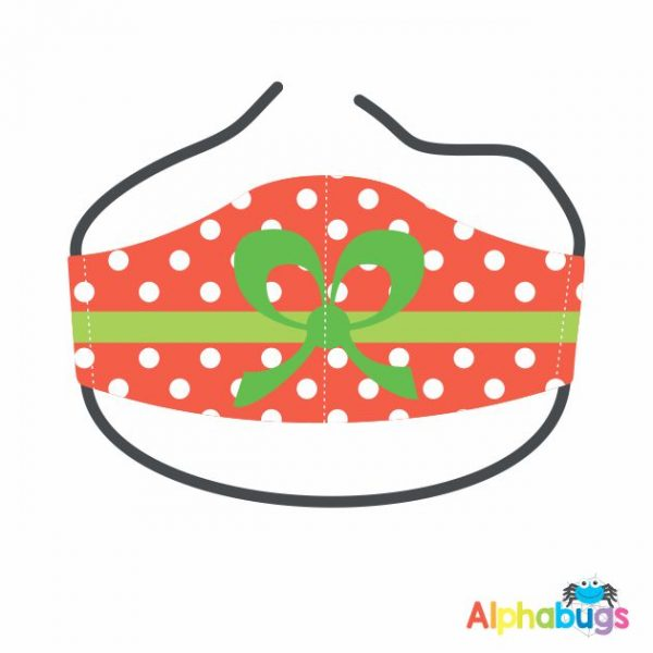 Face Mask – Christmas Bow