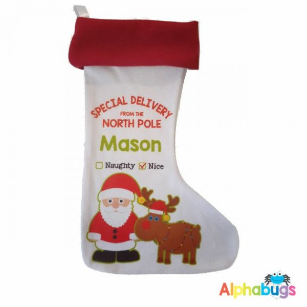 Personalised Stockings – Christmas Characters