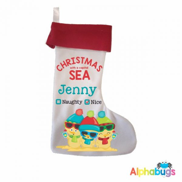 Personalised Stockings – Christmas with a SEA