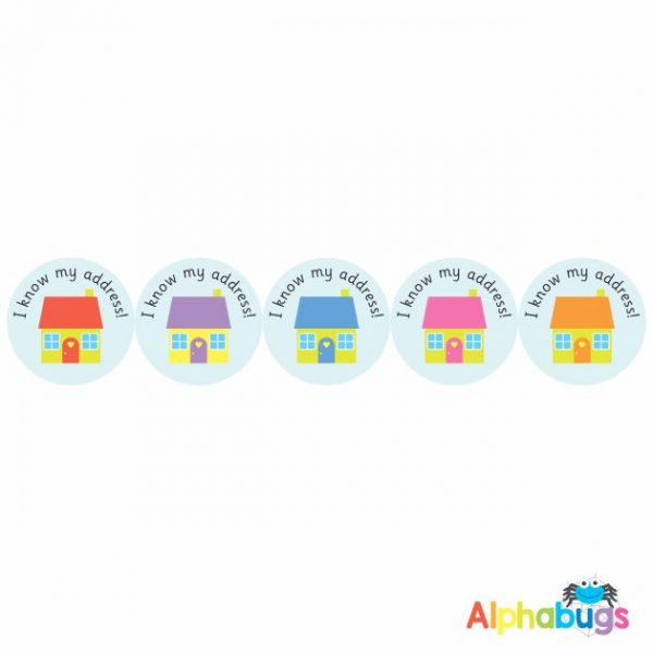 Early Learning Stickers – I know my Address