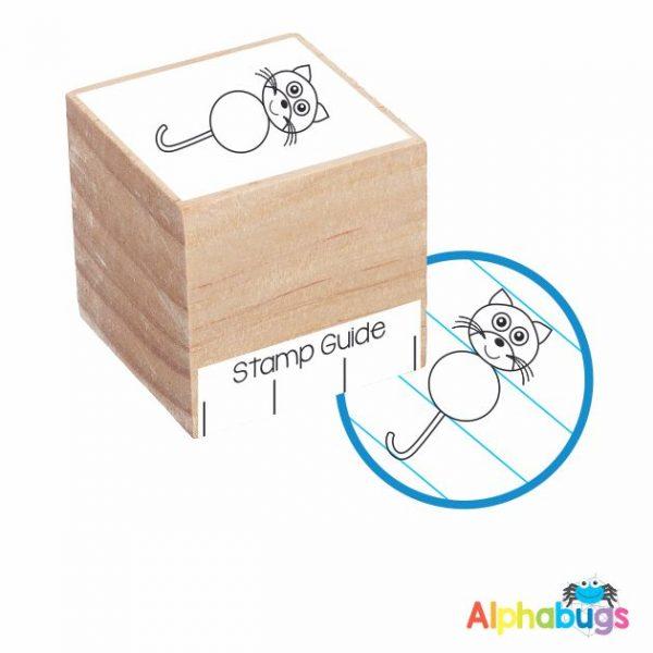 Cool Cat Wood Stamp