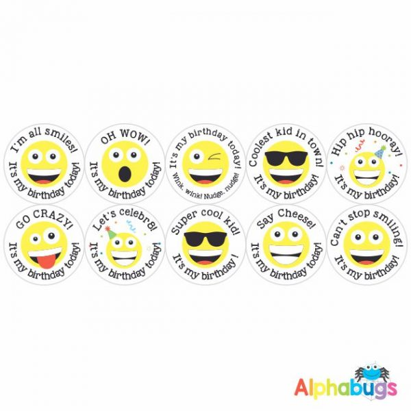 Birthday Stickers – Say Cheese