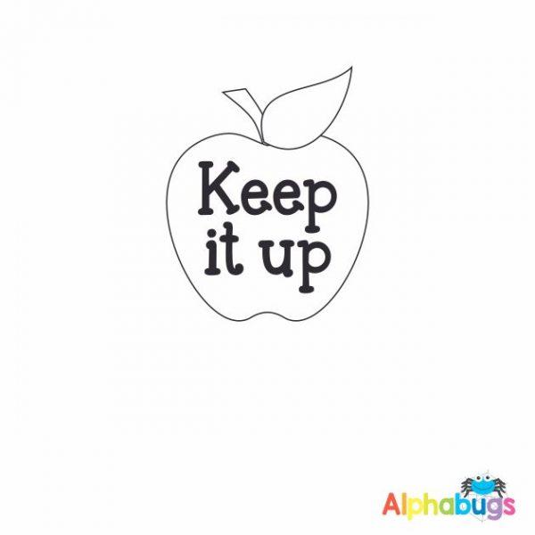 Keep It Up Apple 3cm Stamp