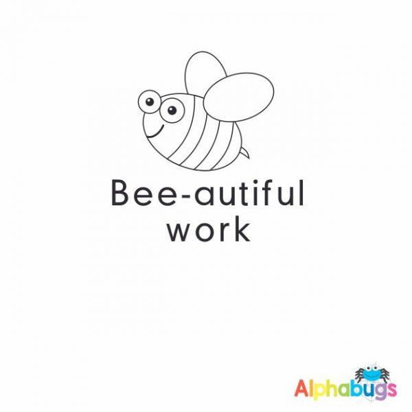 Bee-autiful Work 3cm Stamp
