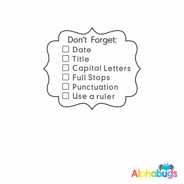 Don't Forget Checklist