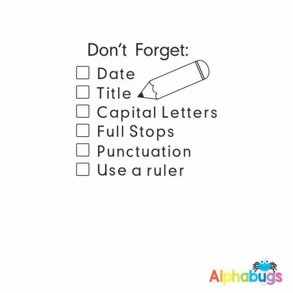 Don't Forget Literacy Checklist