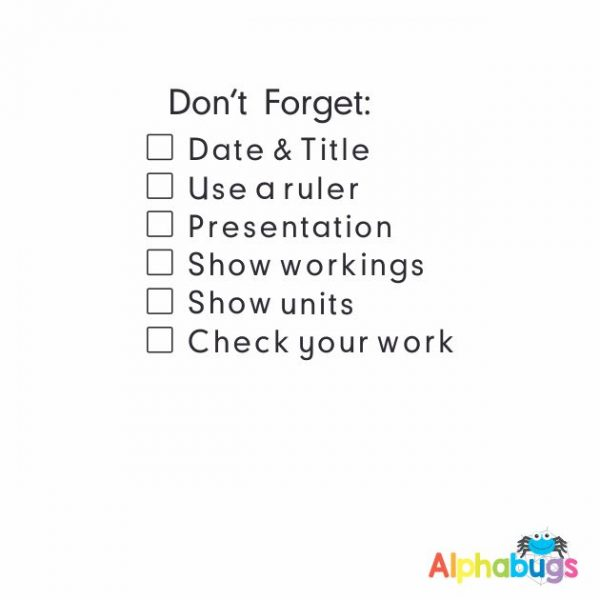 Don't Forget Numeracy Checklist
