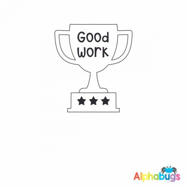 Good Work Trophy 3cm Stamp