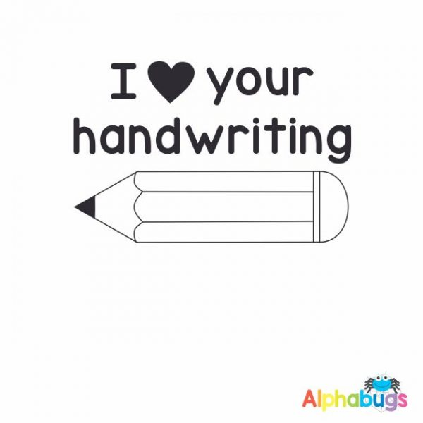 I Love Your Handwriting 3cm Stamp