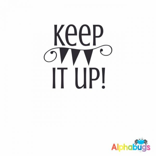 Keep It Up 3cm Stamp