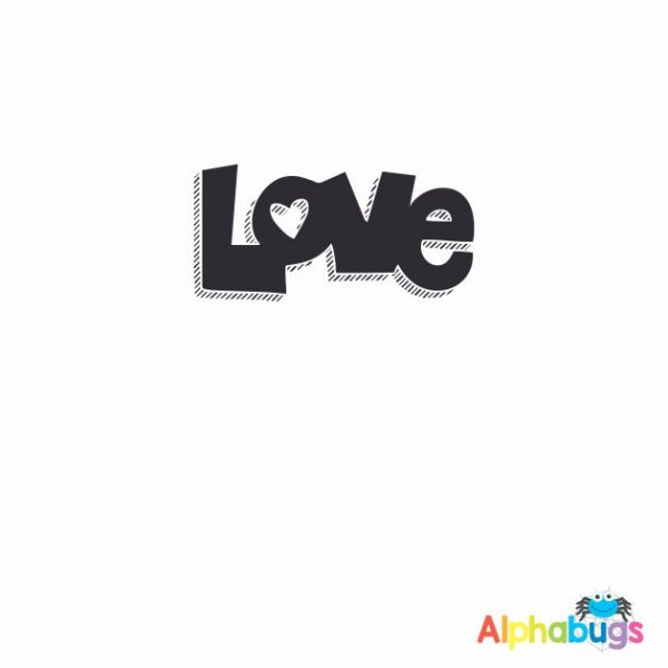 Love 3cm Stamp
