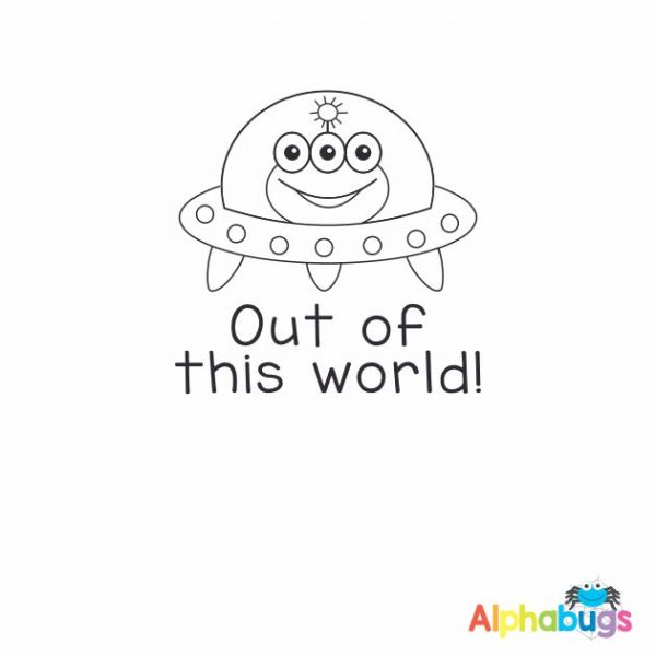 Out of this World 3cm Stamp
