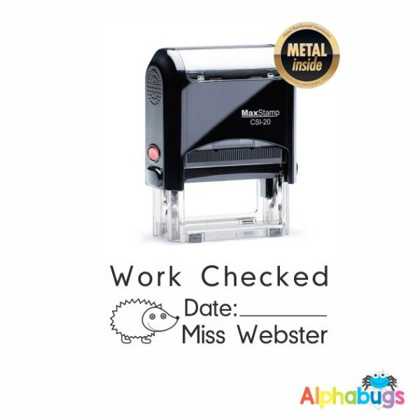 Self-Inking Stamp Work Checked By: